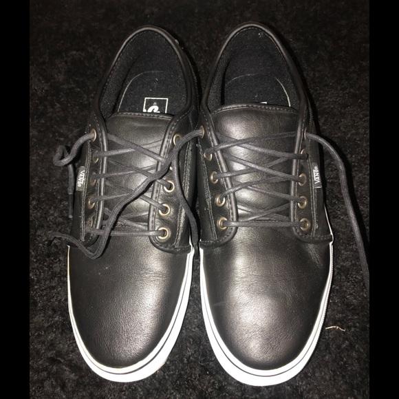 mens black vans size 12